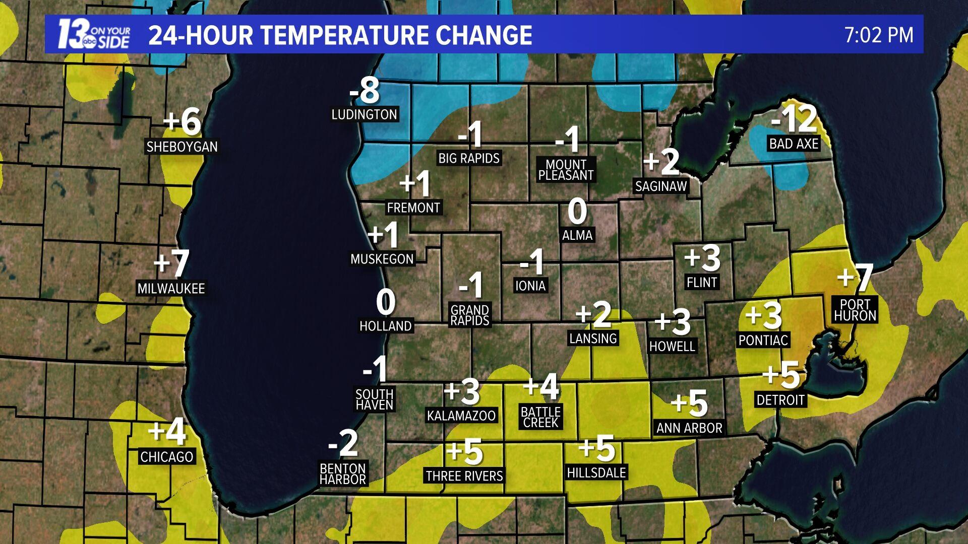 24 Hour Temperature Change